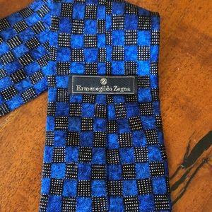 Blue & Black Italian Silk Tie